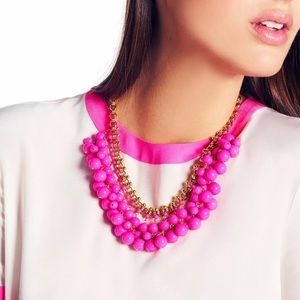 """Kate Spade """"Sweet As Pie"""" Pink Cluster Necklace"""
